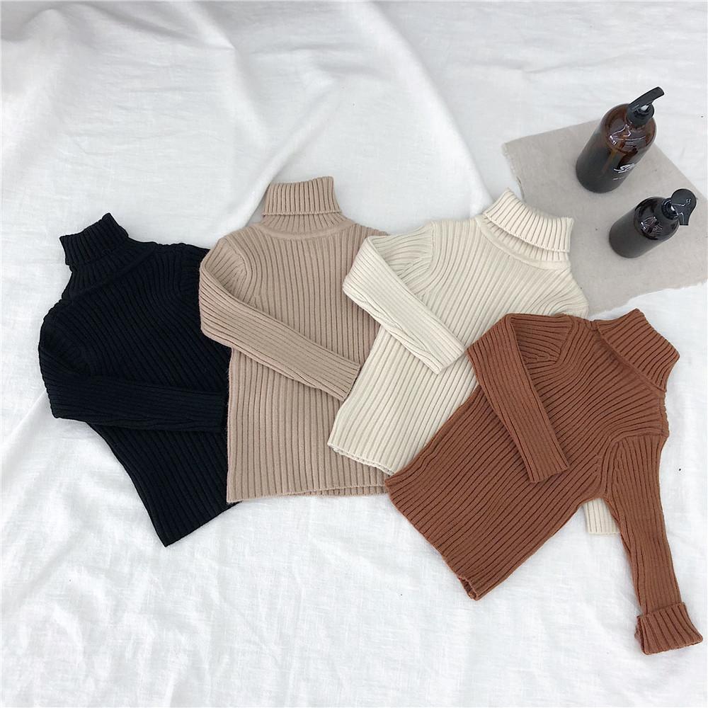 Mutter & Kinder 2018 Winter Kinder Kleidung Hohe Qualität Baby Mädchen Jungen Pullover Rollkragen Pullover Herbst Warme Kleidung Tragen Kinder Pullover