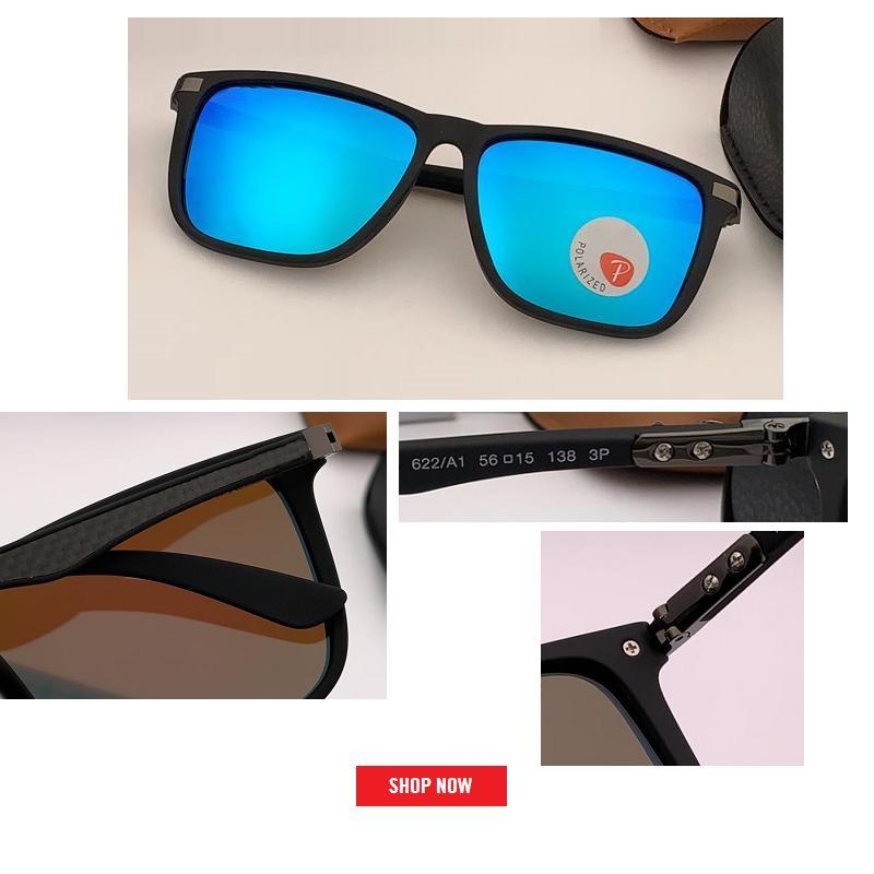 b86e508a7e Compre Diseñador De La Marca De Moda Gafas De Sol Polarizadas Hombres  Mujeres Que Conducen El Marco Cuadrado Gafas De Sol Gafas De Gafas  Masculinas ...
