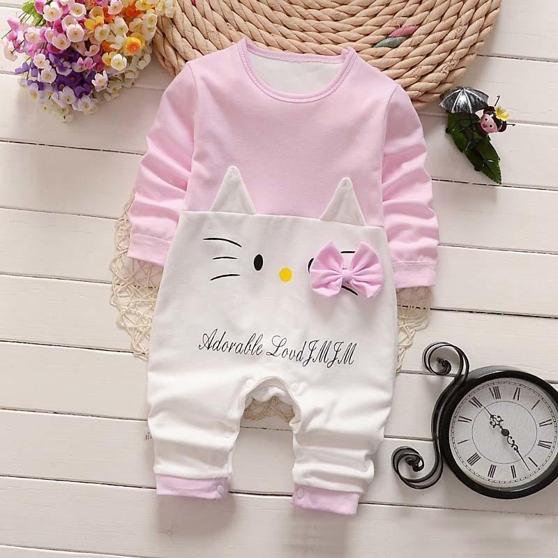BibiCola Spring Summer Baby Rompers long Sleeve Baby Girls Clothing Kids Jumpsuits Newborn Baby Boy girl Clothes Roupas vestidos