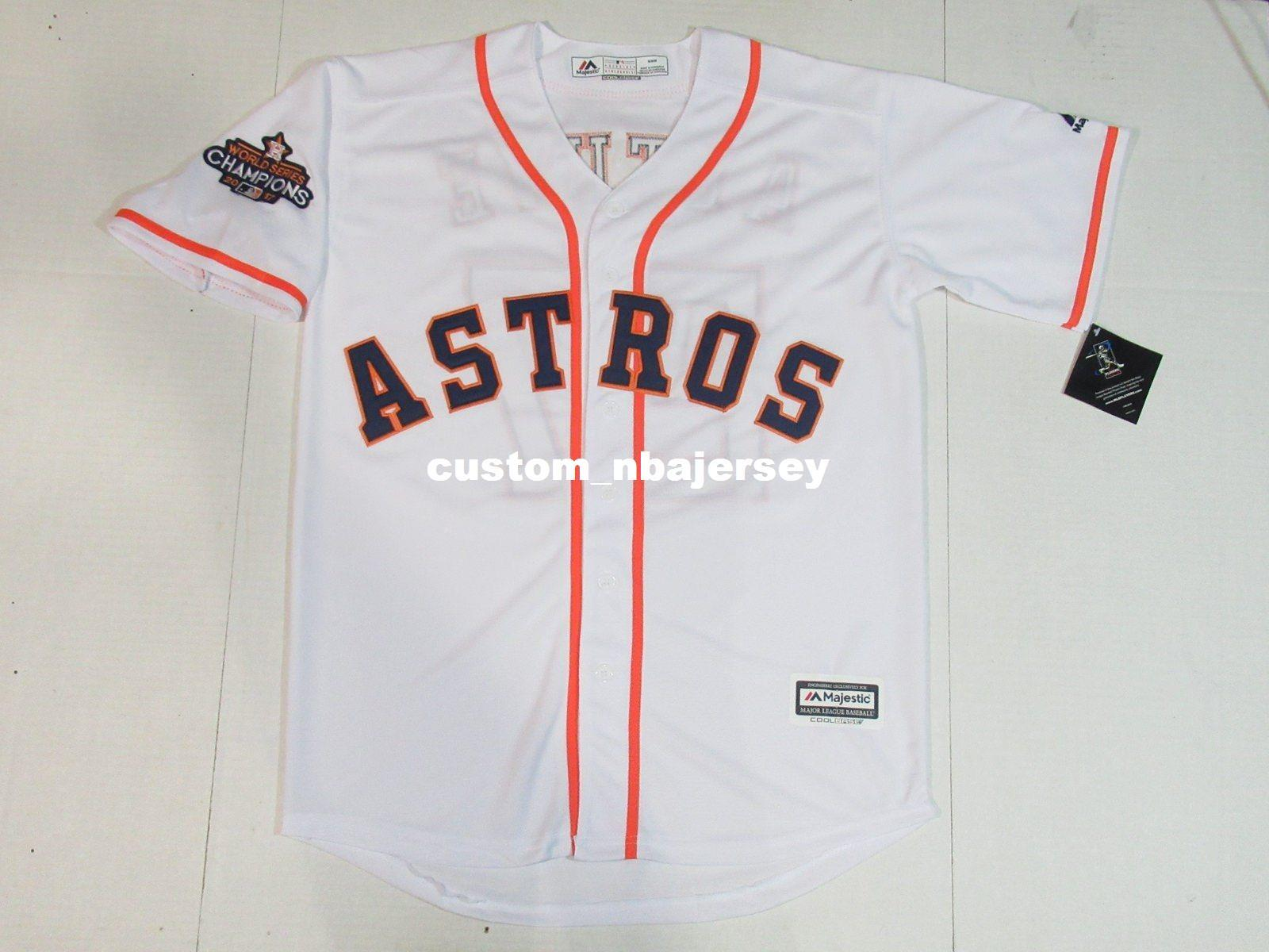 watch 1431b 9ef6f Cheap Custom George Springer World Champions Cool Base jerseys White  Stitched Retro jerseys Customize any name number