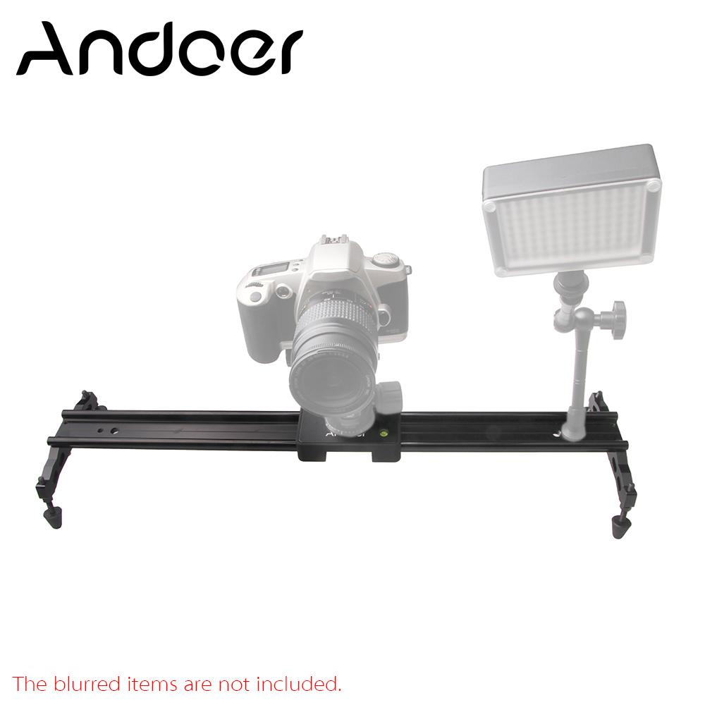 "Freeshipping 60cm / 24"" Video Track Dolly Camera Slider Stabilizer System Aluminum Alloy for Canon Nikon Sony DSLR Cameras Camcorders"