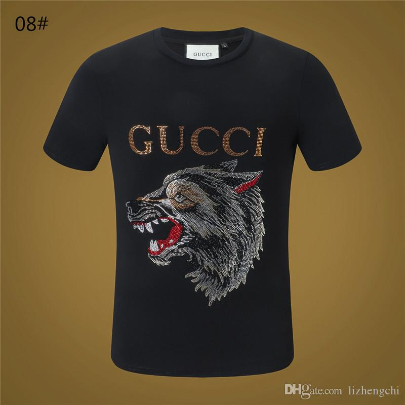a5c9e0947a0d European Station Cool Odd Short Sleeved Wolf Head Color Hot Drilling Summer  Slim Fashion Tide T Shirt Shopping T Shirt Online Cool T Shirt Sites From  ...