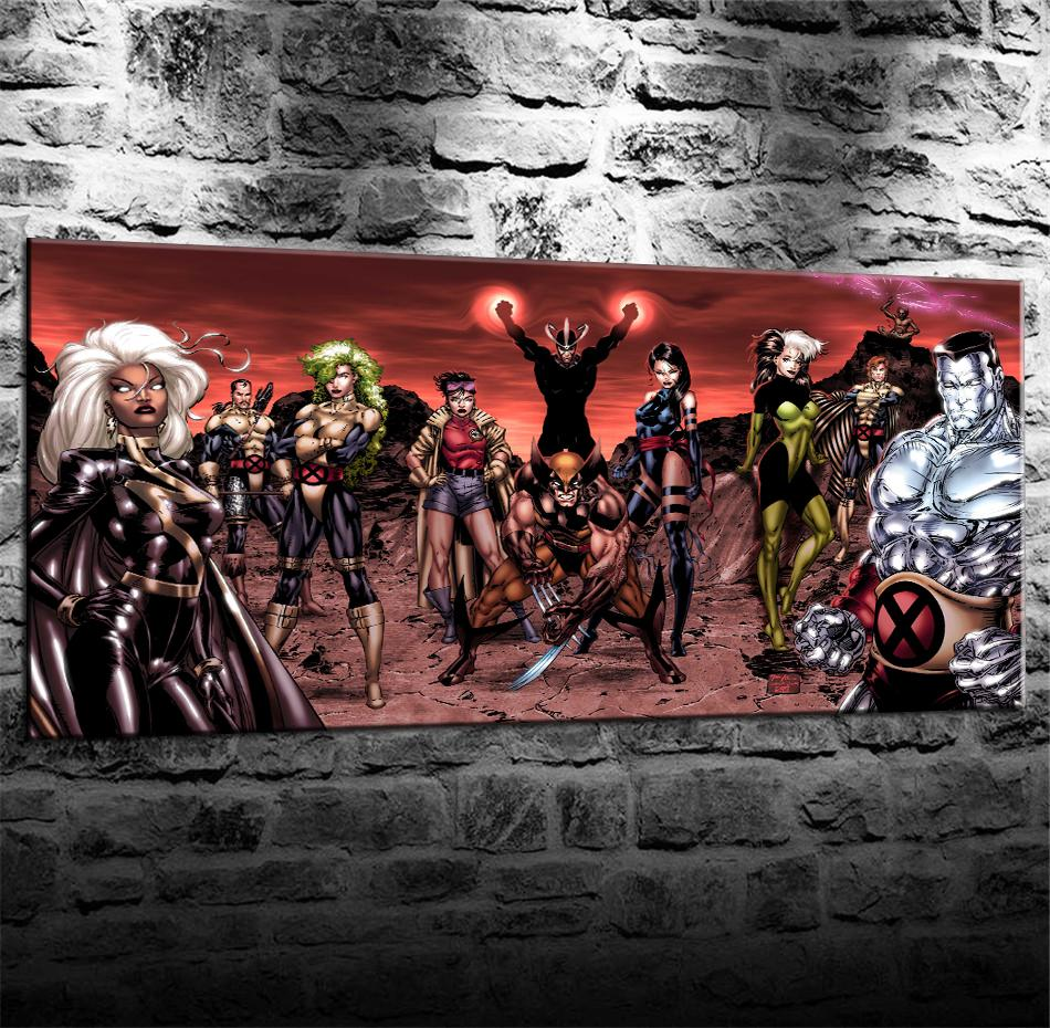 X Men Comics Team, Home Decor HD Stampato Arte Moderna su tela / Senza cornice / Incorniciato