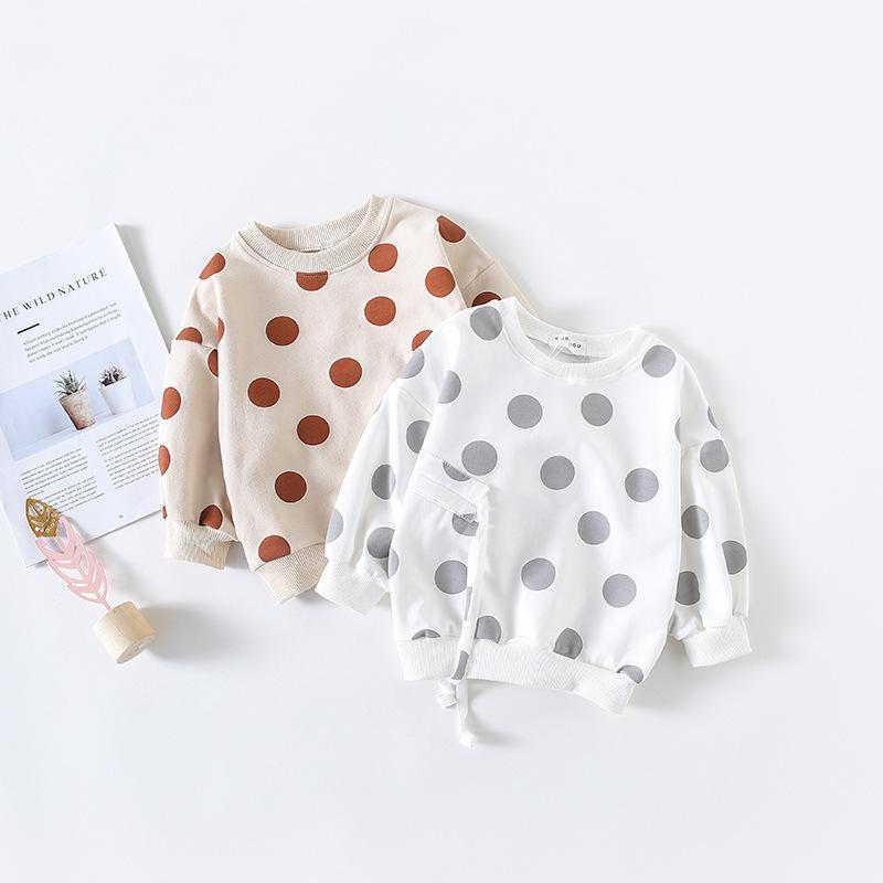Polka Dot Tassels Hoodies Toddler Kids Baby Girls Cotton T Shirt Sweatshirt Clothes Children Girl Spring Autumn Sweatshirt Tops