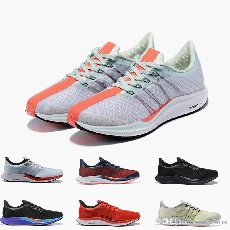 buy online a9923 75d9d 2019 New Air Zoom Pegasus Turbo 35 Barely Grey Hot Punch Black White  Running Shoes Mens Trainers Women Sports Sneakers size 36-46