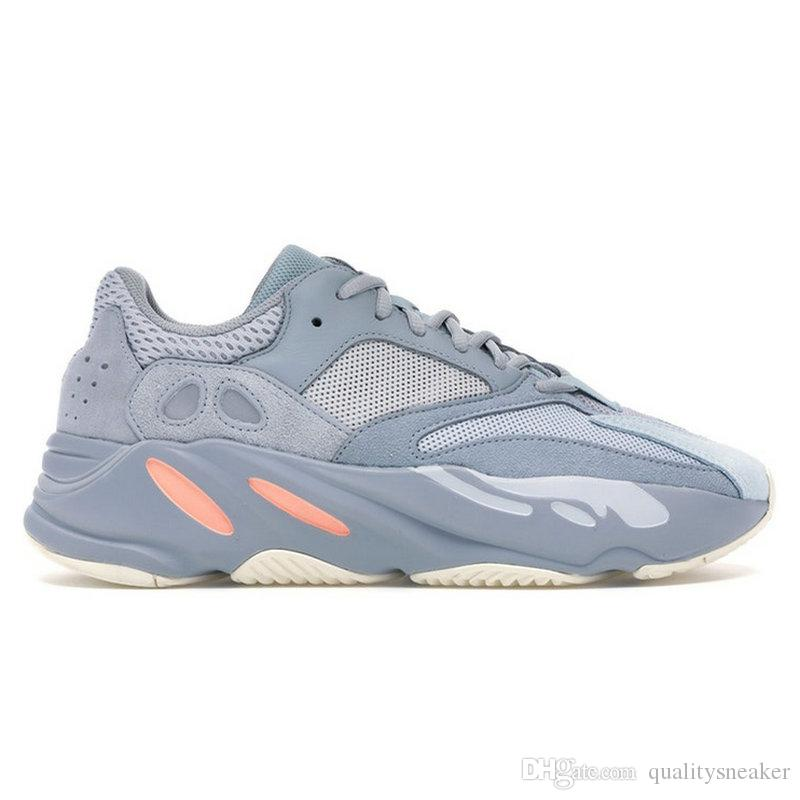 7d525aa0c 2019 700 Inertia Wave Runner OG Solid Grey Mauve Women Men Running Shoes  700 V2 Static Kanye West Dad Shoes Designer Sneakers Sports Trainers From  ...