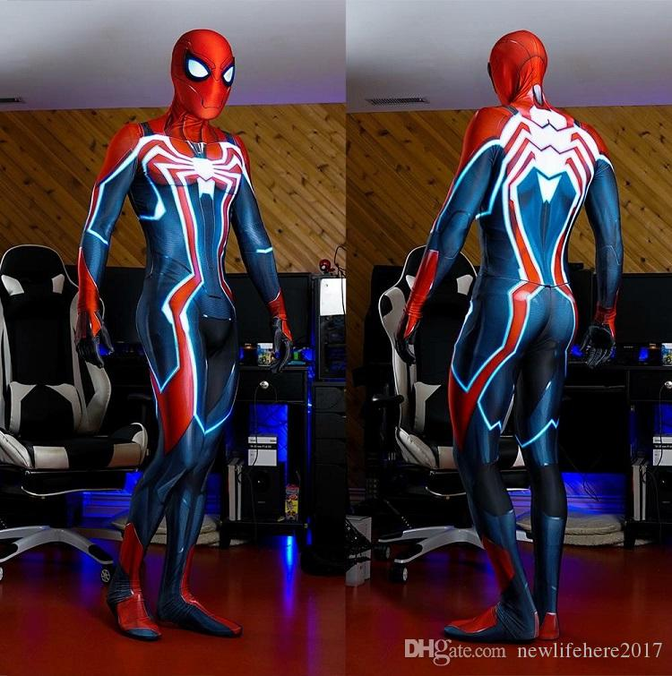 acheter 2019 nouveau ps4 velocity suit spider man costume cosplay costume jeu d 39 impression 3d. Black Bedroom Furniture Sets. Home Design Ideas
