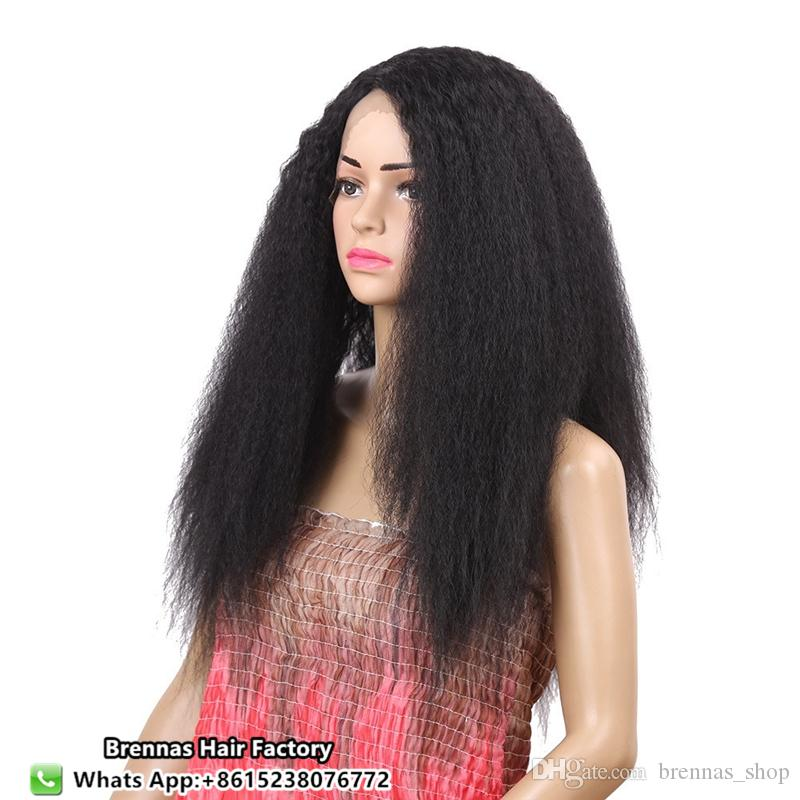 Afro Kinky Straight Natural Synthetic High Temperature Lace Front