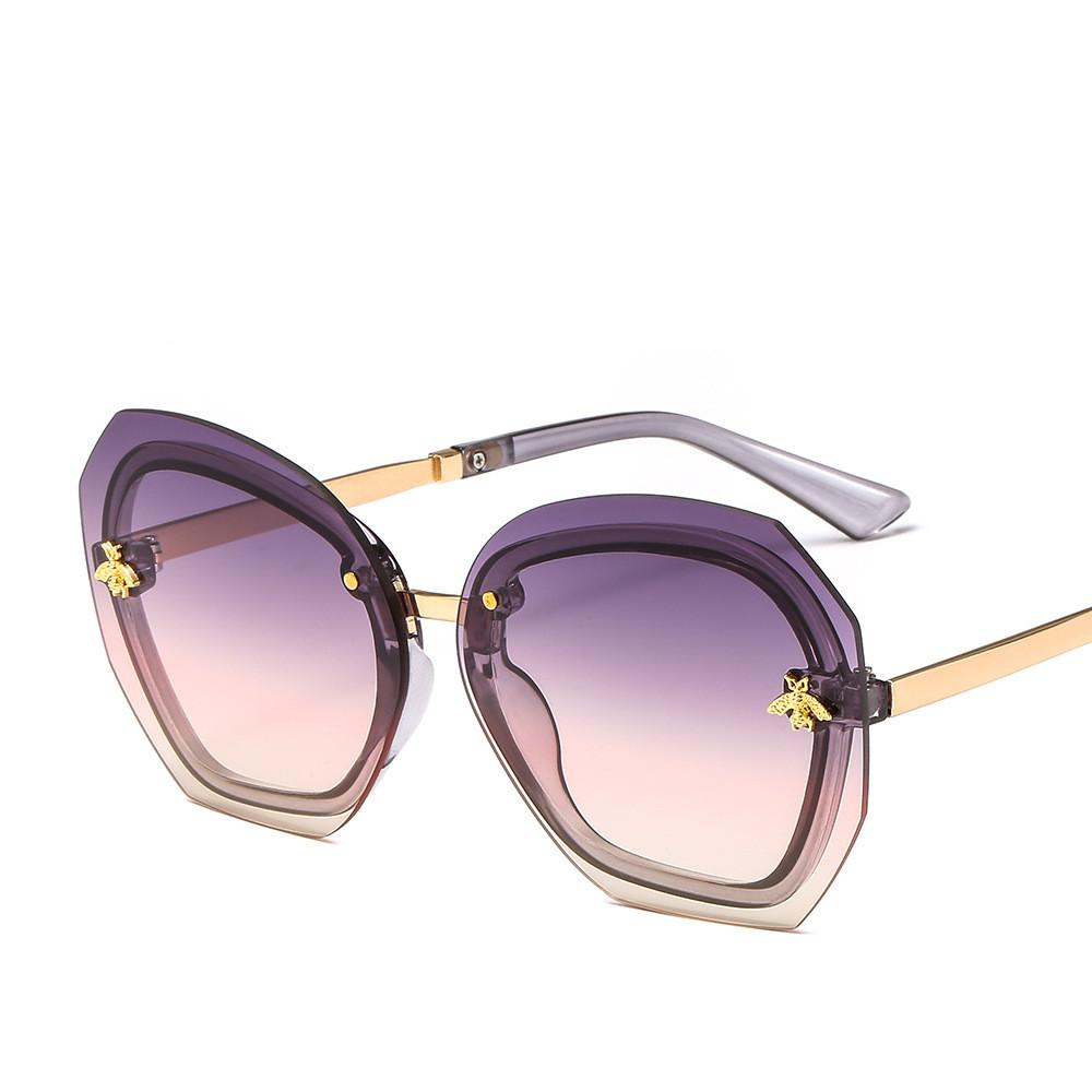 c61c3df61e84 2019 Hot Bee Sunglasses Luxury Italy Designer Large Frame Fashion ...