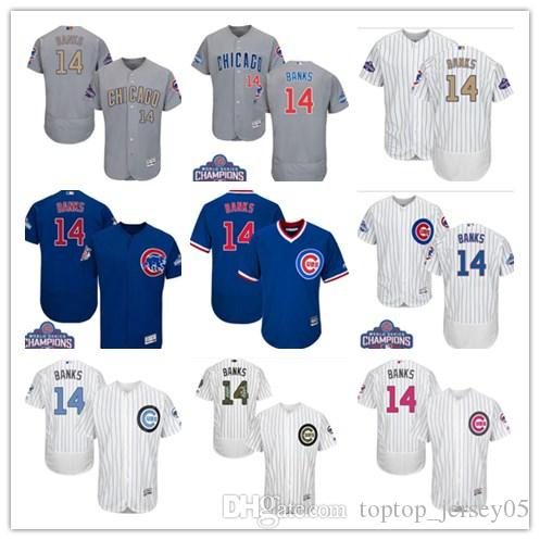 huge discount a3da1 cbd4d 2018 can Chicago Cubs Jerseys #14 Ernie Banks Jerseys men#WOMEN#YOUTH#Men s  Baseball Jersey Majestic Stitched Professional sportswear