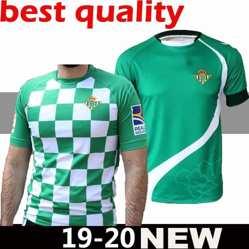 ee1456ccdb8 2019 19 20 New Man Real Betis Soccer Jersey 2019 20 Real Betis JOAQUÍN  SERGIO LEÓN BARTRA INUI BOUDEBOUZ MANDI S. CANALES JOAQUÍN Football Shirt  From ...