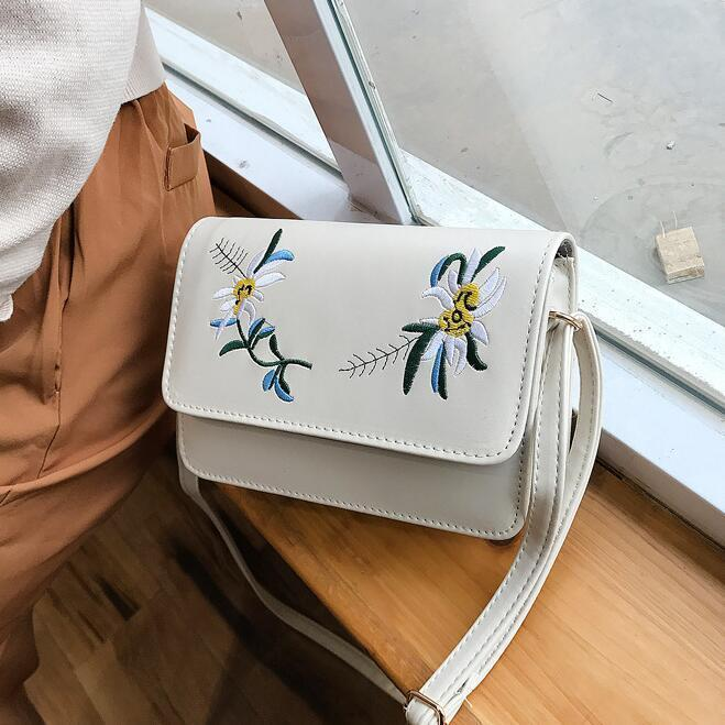 025f934117 Fashion New Handbags Quality Pu Leather Women Bag National Wind Flowers  Embroidery Square Bag Simple Girl Shoulder Messenger Bag Cheap Purses  Handbags For ...