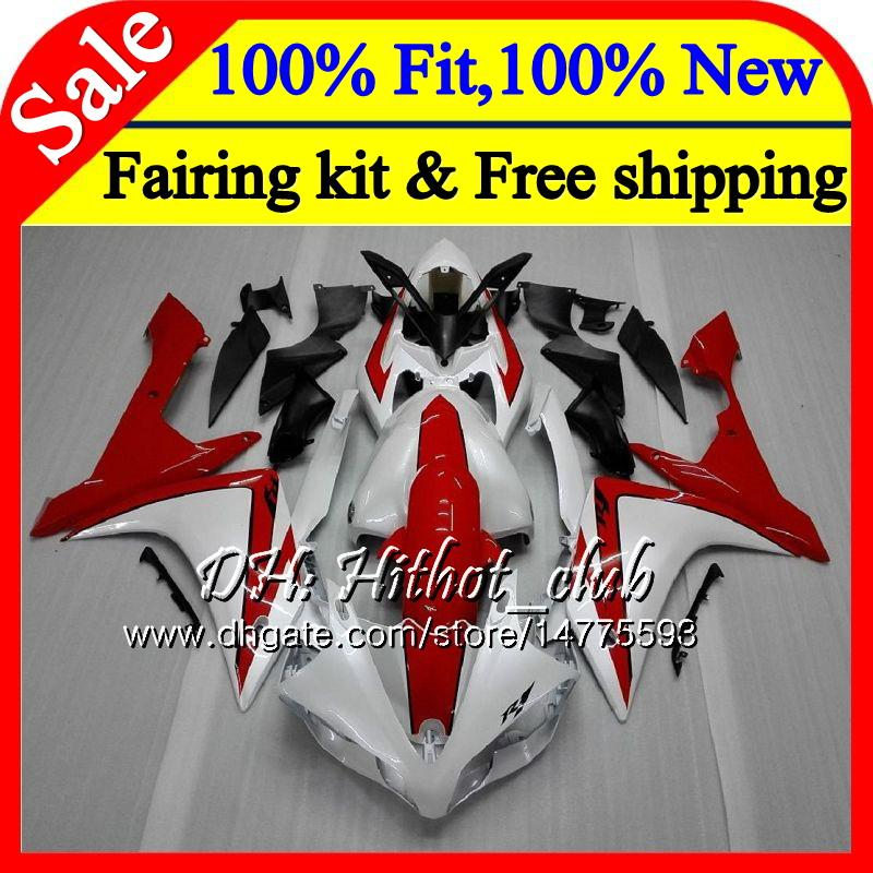 Corps d'injection Pour YAMAHA Perle Blanc rouge YZF R 1 YZF 1000 YZFR1 07 08 98HT6 YZF R1 07 YZF1000 YZF-1000 YZF-R1 2007 2008 Carrosserie Carrosserie