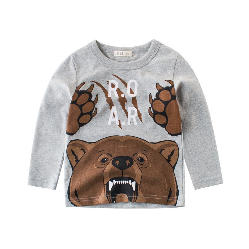b528c1b68 2019 Kids T Shirts For Boys Girls O Neck Cartoon Animal Pattern Children T  Shirts For Boy Long Sleeve Tops Cotton Tshirts Autumn 2019 From Victorys07,  ...