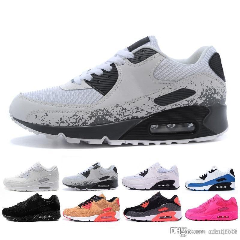 free shipping 32db5 1e9d2 Acheter Nike Air Max 90 Multicolore Vente En Gros À Des Hommes Et À Des Femmes  De Haute Qualité 90 Coussins D air De Baskets Originales De  39.53 Du ...
