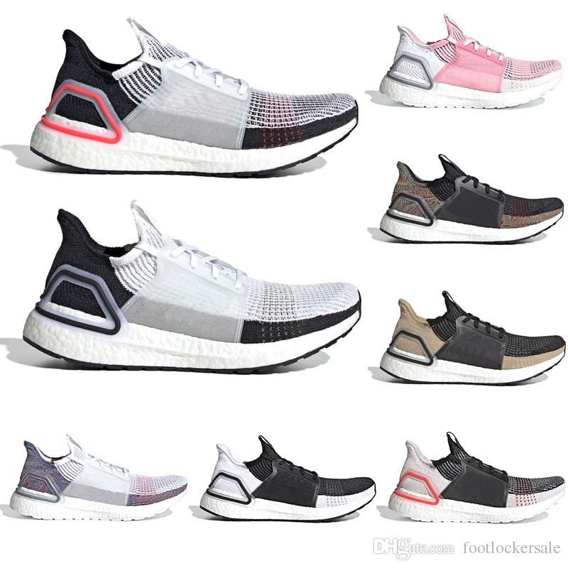 69395eec6f926 2019 2019 Ultra Boost Men Running Shoes Women Trainers Triple Cloud White  Black Dark Pixel Refract Clear Brown Ultraboost Sport Designer Sneakers From  ...