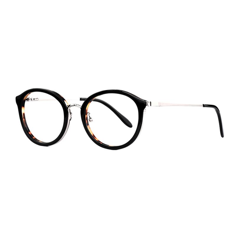 66a2a2c5bb 2019 New Trends Women Glasses Clear Eyeglasses Acetate And Metal Optical  Spectacle Frames Eyewear Red Black Brown Eyeglass From Vintage66