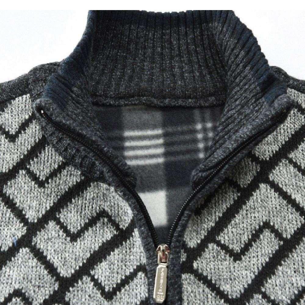 Ceket Erkekler Sonbahar Kış Katı Fermuar Giyim Örgü Hırka Uzun Kollu erkek Ceket Ceket chaqueta hombre 18SEP28