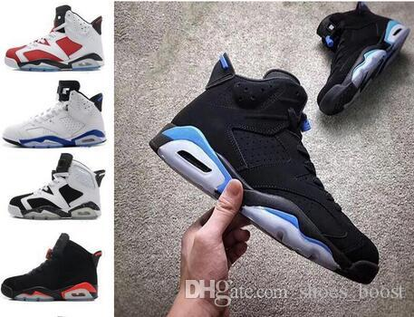 outlet store 4d801 ce837 Infrared 6S VI Black Infrared Black legend blue cement Wholesale mens  basketball shoes free shipping