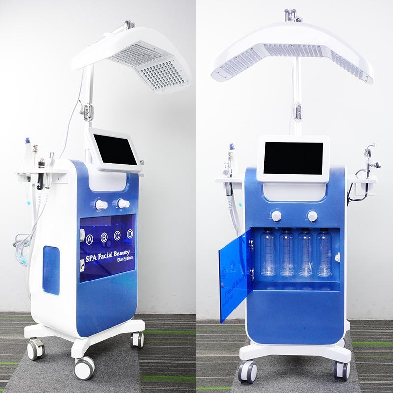 8en1 vacío oxígeno Hydro dermoabrasión facial limpiadora de chorro de agua Peel máquina del limpiador del poro HydraFacial Hydra máquina facial PDT LED de es