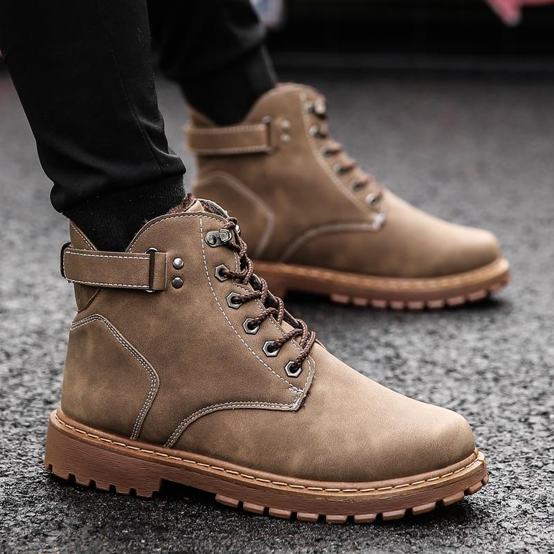 New Arrivals Men Boots Comfortable Wear-resisting Ankles Boots Zapatillas Deportivas Male Working Sneakers Fashion Casual Shoes Shoes
