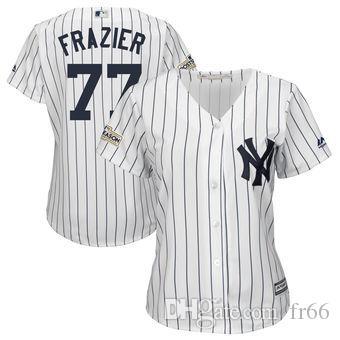 finest selection bc54c a4ce5 2019 World Series Champion New York Yankees 77 Clint Frazier Baseball  Jerseys Custom Sports wholesale mlb Cheap Jersey Fashion factory Men