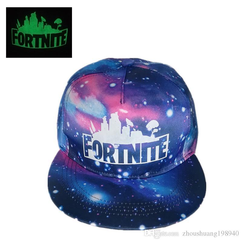 b46d452452413 Fortnite Luminous Caps Starry Baseball Cap Fashion Summer Sunhat Hip ...