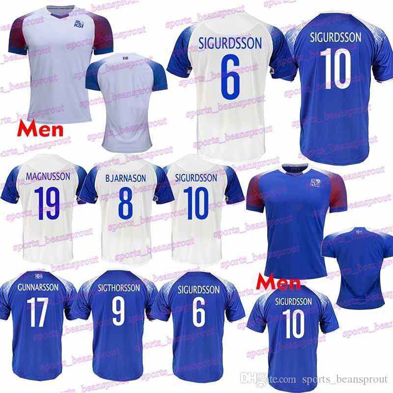 fda4d8285 2019 2018 World Cup Iceland Soccer Jersey 6 GUDMUNDSS 9 SIGTHÓRSSO 10  G.SIGURDSSON 21 TRAUSTASON Club Team Football Uniform From  Ball 2019 jerseys