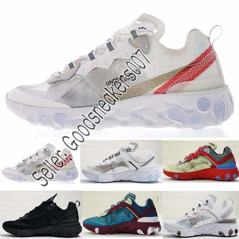 lowest price 7c24d e4b2f Acquista Nike Air Max UNDERCOVER X Upcoming React Element 87 Uomo Scarpe Da  Corsa Light Bone Signal Blue Trainer Donna Sport Designer Sneakers Nome  Comune ...