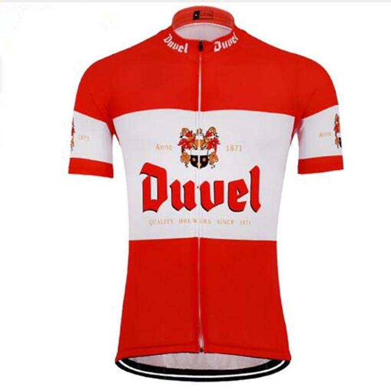 2018 NEW Summer Men s Red white Beer Cycling Jersey Cycling Clothing ... d8b65c264