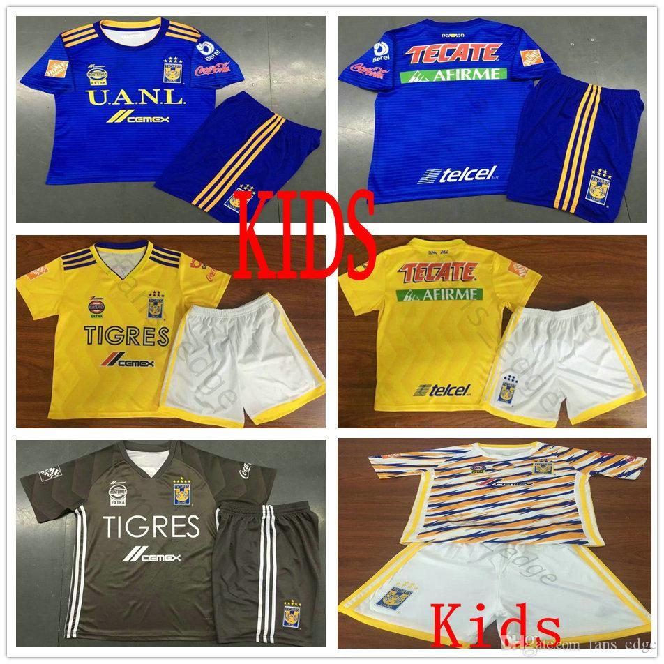 41197d8e7 2019 Kids Mexico Club Tigres UANL Soccer Jersey 6 Stars GIGNAC Vargas H.  Ayala SOSA 2019 Custom Yellow Blue Grey Youth Football Shirt Kit From  Fans_edge, ...