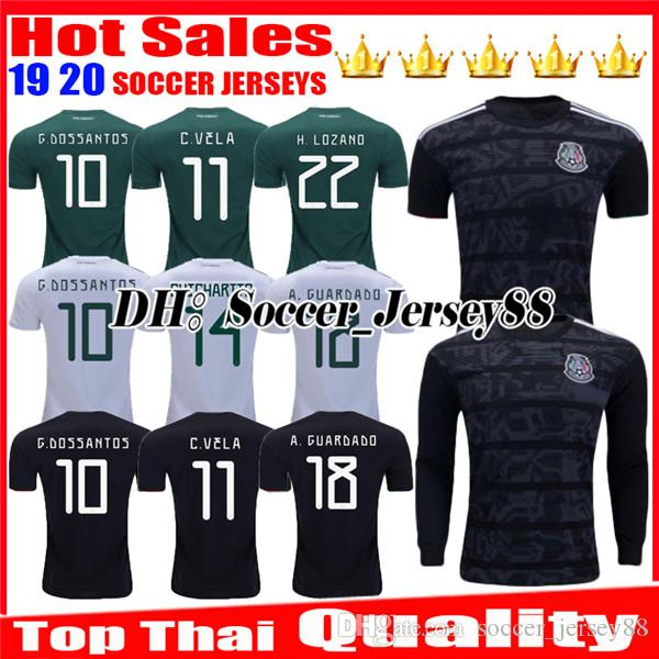 6863d74ab 2019 Gold Cup 2019 2020 Camisetas Mexico 19 20 Man Soccer Jersey Long  Sleeve CHICHARITO LOZANO MARQUEZ DOS SANTOS Uniforms Football Shirt From ...