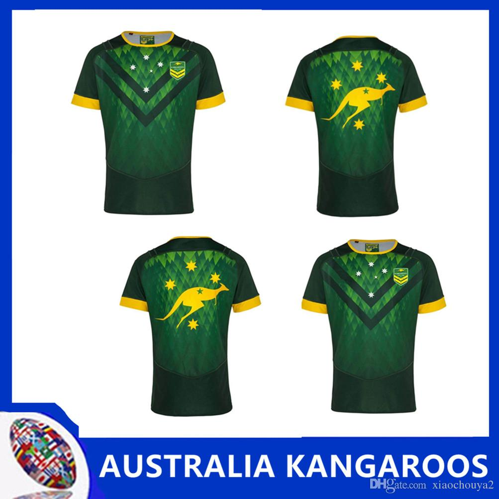 brand new 6a922 9a3e5 2019 AUSTRALIA KANGAROOS JERSEY AUSTRALIA WALLABIES INDIGENOUS JERSEY 2018  Australia Special Version yellow Rugby size S -3XL