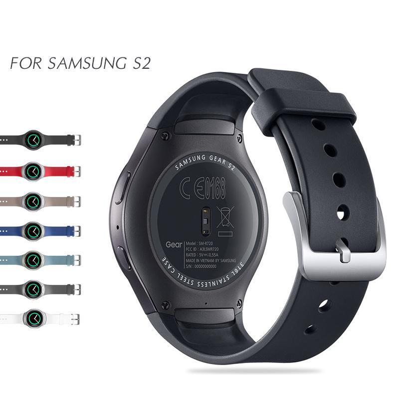 7ec23d3f990 Compre Sport Banda De Silicone Para Samsung Gear S2 Relógio Banda Elegante  Substituição De Silicone Cinta Sm R720 Sgss2ss De Agonon