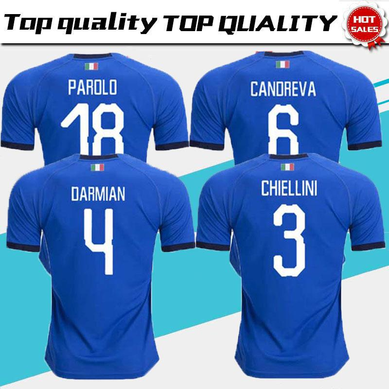 f8e36a22 2019 2018 2019 Italy Soccer Jerseys EL SHAARAWY PIRLO BONUCCI DE ROSSI  INSIGNE VERRATTI CHIELLINI Home Away Football Jersey Shirts Adults Shirts  From ...