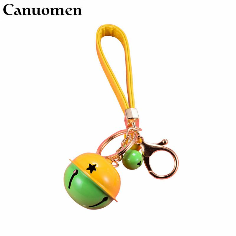 wholesale New Arrival Bell Keychain Fashion PU Car Key rings breloczek Cute Gifts for Women DIY Alloy Bag Hold chaveiro Jewelry