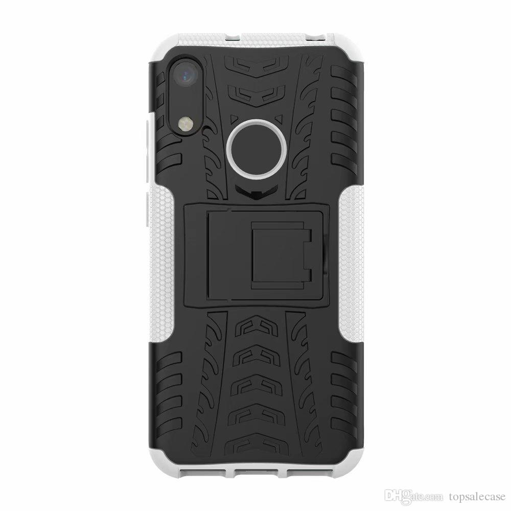 Per Huawei Honor 8A Custodia Stand Cool Combo robusto Hybrid Armor Bracket Impact Cover per fondina Per Huawei Honor 8A / Y6 2019
