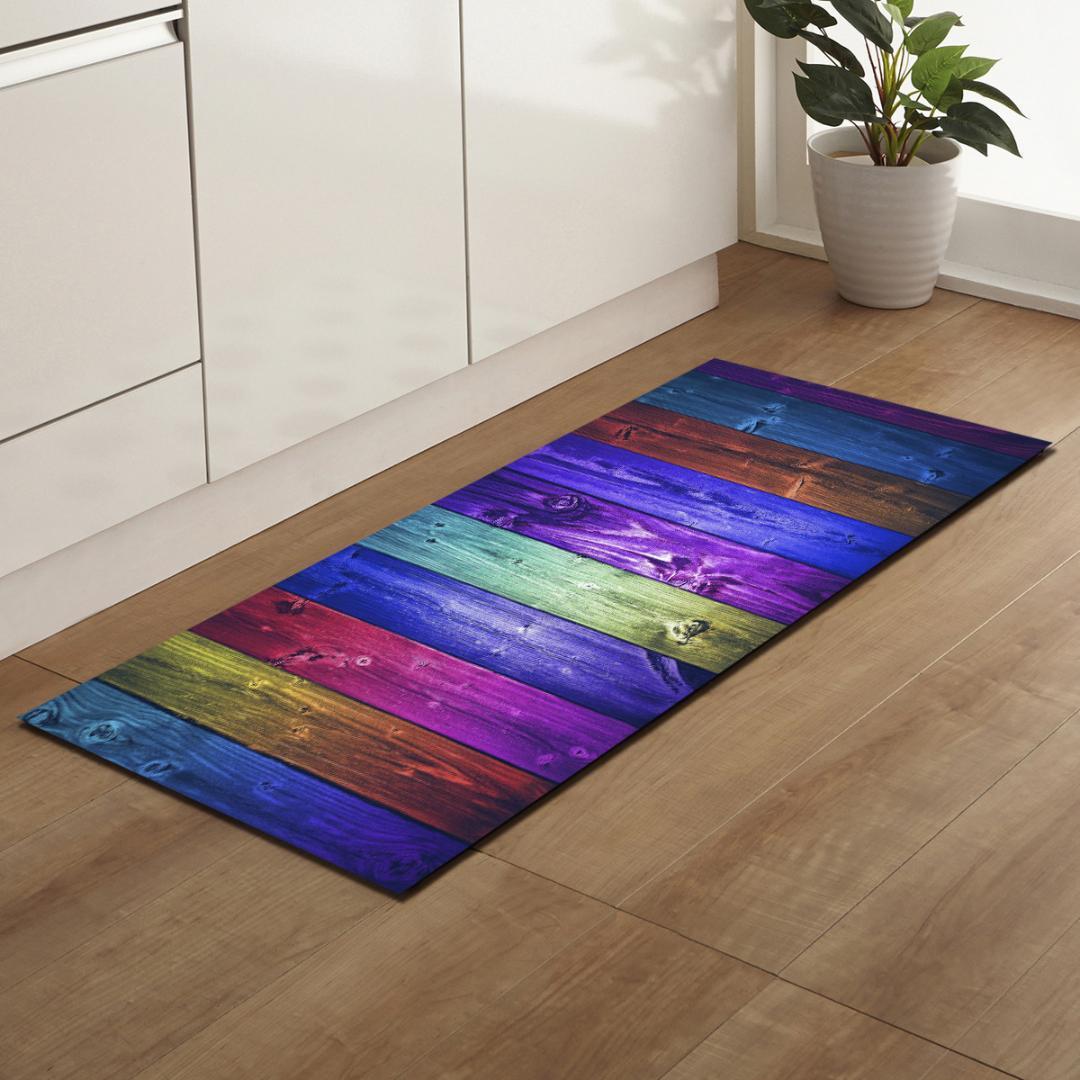 Zeegle wood pattern kitchen mats rectangle bedroom carpets bedside mats anti slip floor carpets for living room bathroom floor carpet online discount carpet