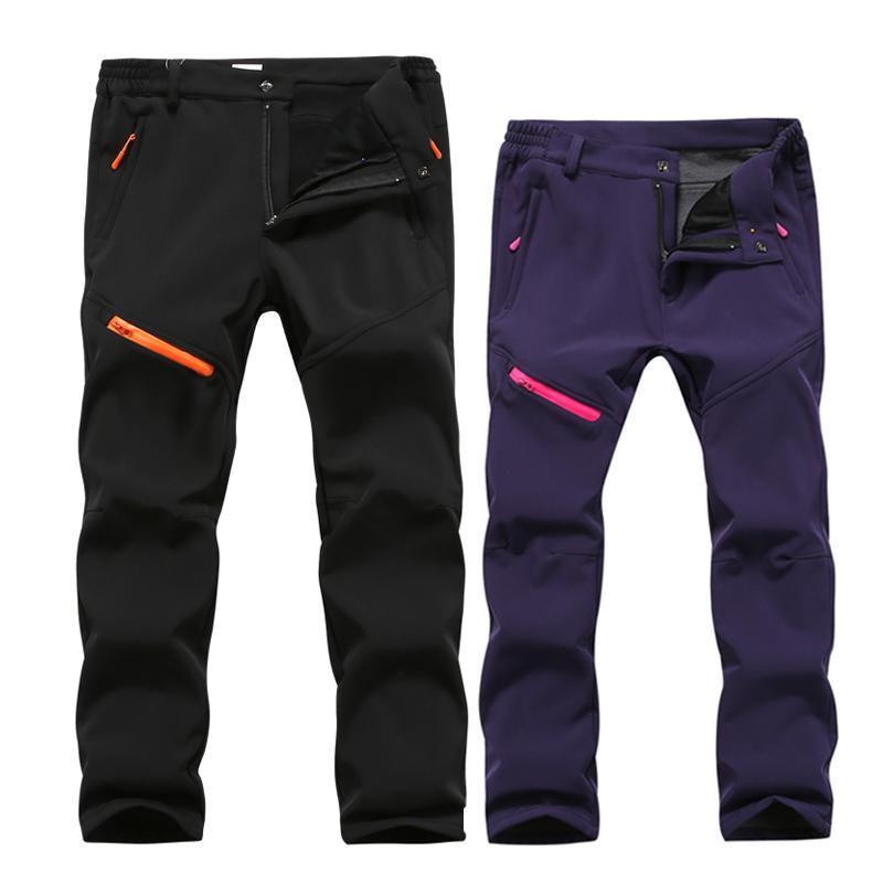 6010ff5e419 Men Sport Trousers Outdoor Trekking Skiing Fishing Softshell Hiking Pants  Fleece Thick Warm Waterproof Autumn Winter Pants Women Online with   43.53 Piece on ...