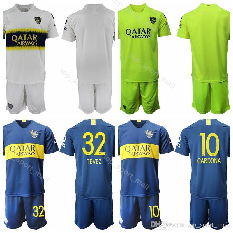 57620bd5a 2019 18 19 Season Boca Juniors Soccer 32 Carlos Tevez Jersey Set 5 Fernando  Gago 10 Edwin Cardona Football Shirt Kits Uniform Custom Name Number From  ...