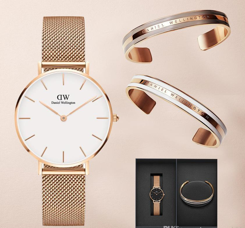 773989a1cabcef New Daniel Wellington Classic Bracelet For DW Watches Quartz Watch 316L  Stainless Steel Colorful Colors Men And Women Bracelets Box Sale Watch  Online ...