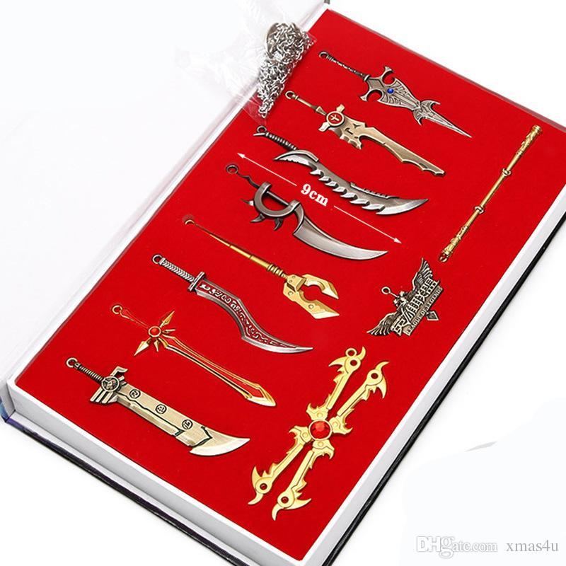 5LOtLeague of Legends LOL 11 Edition Collector armes Boxed LOL Caractères Pendentif porte-clés pour voiture Sac Hot Key Vente en ligne xmas4u
