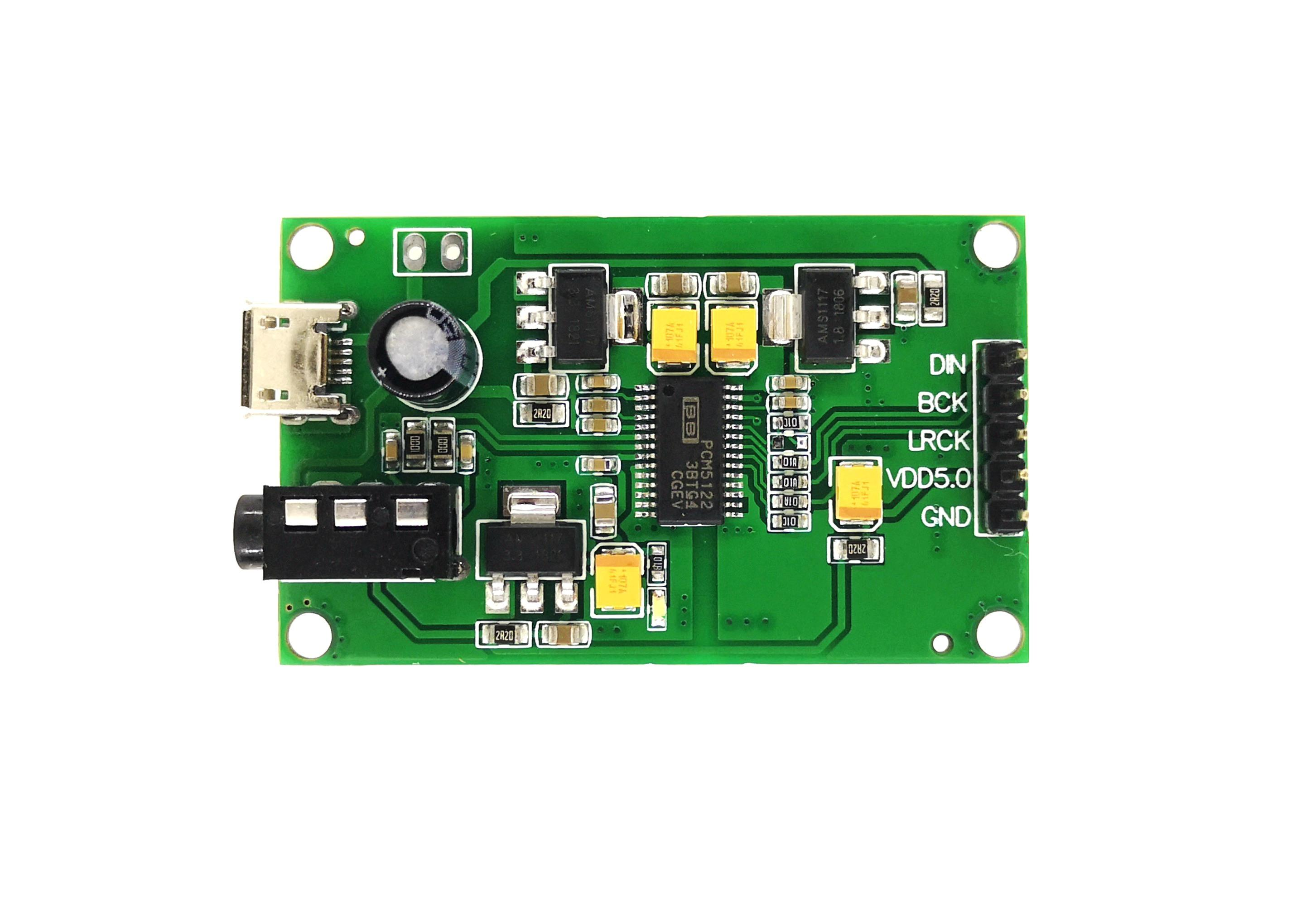 PCM5122 I2S IIS Raspberry Pi Digital Audio Input DAC Decoder Board to AUX  Analog Output
