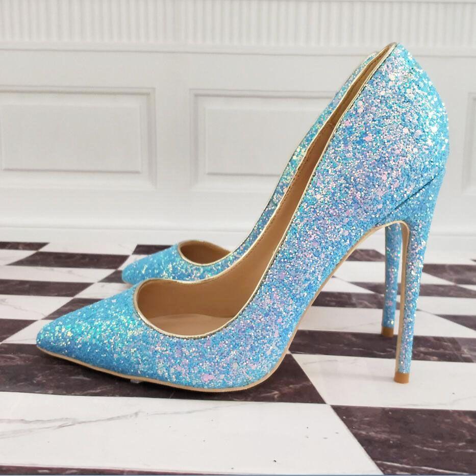 10 De 8 Mujer Talla Alto Cm 43 Altos Azules 12 34 Tacones Zapatos Atractivo 33 Tacón q34AL5Rj
