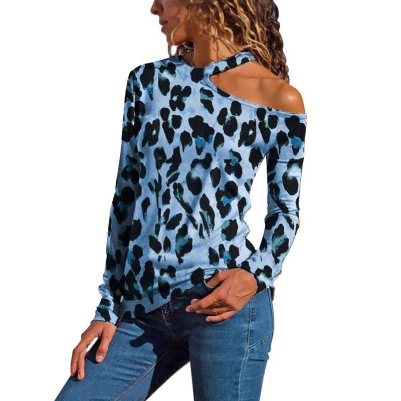 56e32908b7e02 S 5XL 2019 Fashion Women Leopard T Shirts Spring Cold Shoulder Long Sleeve  Tshirt Casual Tops Tee Shirt Plus Size SJ1586V Online Shopping Tee Shirts  Crazy T ...