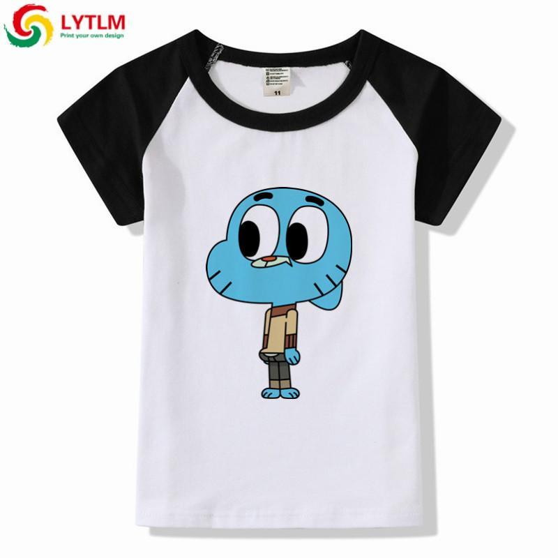 Compre LYTLM Gumball Increíble Camiseta Mundial Niños Camisetas Camisetas De  Dibujos Animados Para Niños Tops Manga Corta Niños Niños Ropa Niñas Camisas  A ... 16fef01c2e6