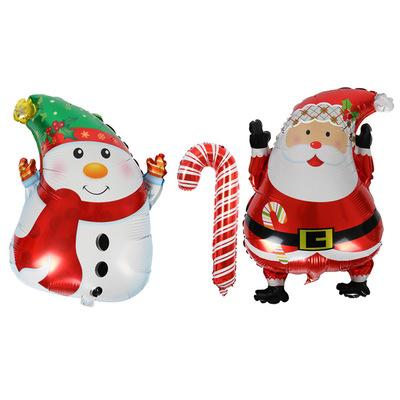 Christmas Cartoon Balloon Snowman Decorative Aluminum foil hydrogen balloon Santa Claus Snowman Balloon Kids Christmas gifts EEA375
