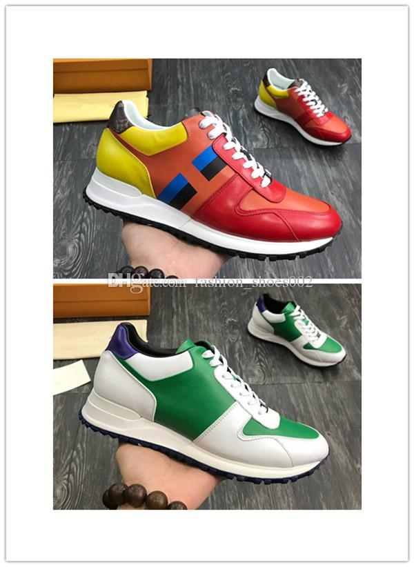 b4a7fa2347f9c Mixed color Mens Casual Shoes Lace Up Designer Comfort Outdoor Sneakers  Casual Leather Shoes Men Sneakers Extremely Durable Stability