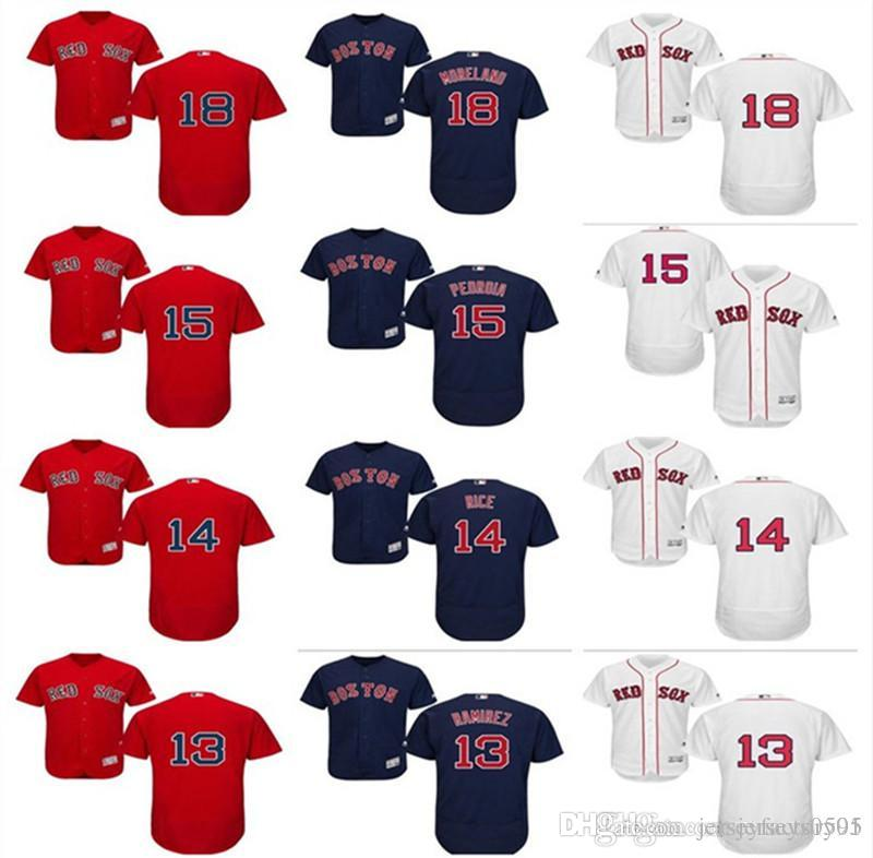 2019 2018 Custom Men S Women Youth Boston Red Sox Jersey  13 Hanley Ramirez  14 Jim Rice 15 Dustin Pedroia 18 Mitch Moreland Home Baseball Je From ... 9f6044b7b35