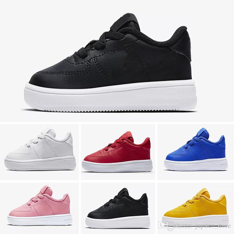 cfd4ee1e51c Compre Nike Air Max Force Fly 2018 De Calidad Superior NUEVOS Niños De Moda  Los Zapatos Para Correr Blancos Bajos Altos Superiores Zapatillas De Skate  ...